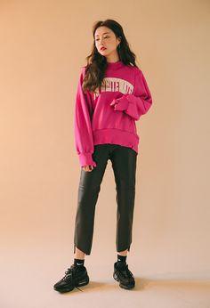 Distressed Mock Neck Sweatshirt | STYLENANDA