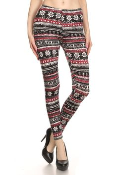 Rustic Snowflake Fleece Lined Leggings | $19.95 at OnlyLeggings.com #OnlyLeggings