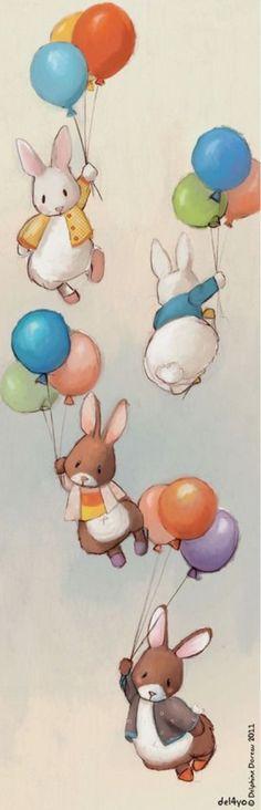 konijntjes en ballonnen