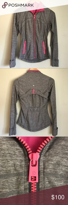 Lululemon Define Jacket Hard to find color combination. Only flaw is the paint chipping on the zipper as seen. Other than that, in very good condition. Very comfortable and lovely jacket. As seen on Ashley Tisdale. ❌Trades lululemon athletica Jackets & Coats