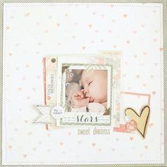 baby scrapbook page. In between days