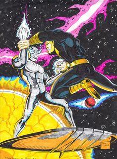 Silver Surfer and Black Adam