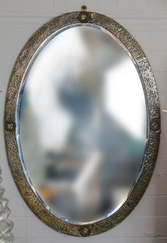 1900 arts and crafts mirror | From a unique collection of antique and modern wall mirrors at https://www.1stdibs.com/furniture/mirrors/wall-mirrors/