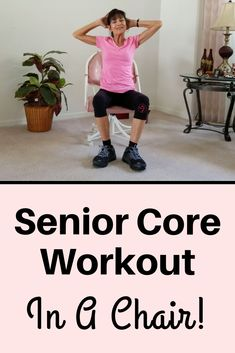 Core Workout For Seniors This chair ab workout for seniors for will tone your core WITHOUT crunches! Seated Core Workout For Seniors This chair ab workout for seniors for will tone your core WITHOUT crunches! Chair Exercises For Abs, Abdominal Exercises, Core Exercises, Abdominal Workout, Chair Abs Workout, Stretching Exercises For Seniors, Stretches, Balance Exercises, Fitness Exercises