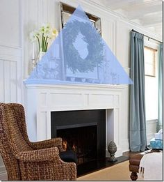 how to decorate a mantel with confidence, fireplaces mantels, home decor, Step 2 Maintain a triangle of movement