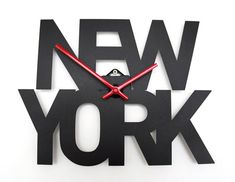Designed by London-based designers Goodwin + Goodwin, these Typographic Time Zone Clocks are an interesting alternative to traditional time zone clocks. Currently there's New York, Paris, and London, but more are planned. Perfect for the type-obsessed. New York, Time Zone Clocks, London Sign, Wrought Iron Wall Decor, Always Kiss Me Goodnight, Light Up Letters, Sign Maker, Quartz Clock Mechanism, Time Zones