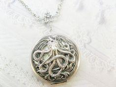 Silver Locket Necklace The ORIGINAL Silver OCTOPUS by birdzNbeez http://www.etsy.com/listing/87985224/silver-locket-necklace-the-original?ref=shop_home_active