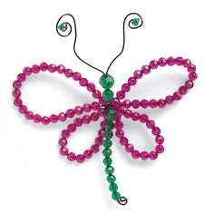 Beaded dragonfly/butterfly - could also do this with pipe cleaners.