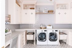 Draper Colonial Tour | lark & linen Utility Room Inspiration, Basement Laundry, Laundry Rooms, Office Nook, Mudroom, Colonial, Home And Family, New Homes, Home Appliances