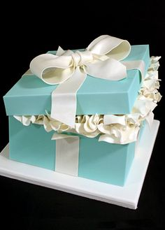YES this is a CAKE! Mark Joseph Cakes does amazing things with fondant and a little batter..Tiffany cake box