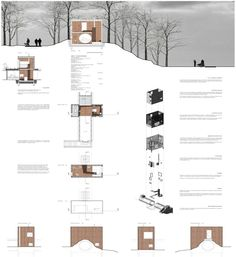 possibly done in photoshop and illustrator Minimal Architecture, Architecture Panel, Architecture Visualization, Architecture Graphics, Architecture Drawings, Landscape Architecture, Architecture Design, Architecture Diagrams, Architecture Presentation Board