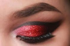 10 Spooky Makeup Looks for the Halloween Fanatic Day Eye Makeup, Dramatic Eye Makeup, Hooded Eye Makeup, Glitter Eye Makeup, Dramatic Eyes, Lady Bug Makeup, Make Up Tutorials, Red Riding Hood Makeup, Red Riding Hood Costume
