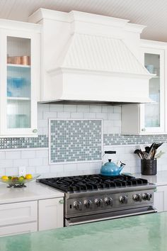Kitchen Range Backsplash. Kitchen Range Backsplash Ideas. Turquoise Kitchen Range Backsplash. #KitchenRangeBacksplash #KitchenBacksplash #RangeBacksplash Out in Design.