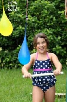 This what you can do in summer fill the balloons with water hang them on the tree with string and see who can run throw them with out busting them     Enjoy!!!!!
