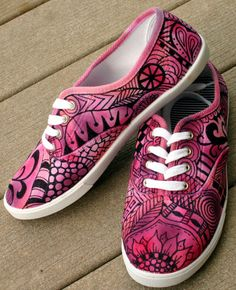 Zentangle sneakers shoes sneakers zentangle von ArtworksEclectic