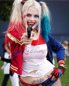 "4 Likes, 1 Comments - Margot Robbie & Laura Gilbert♦ (@margot_laura_queens) on Instagram: ""Creds to @inksphotography ❤️ #lauragilbert #infamousharleyquinn #harleyquinn #cosplay #arkhamasylum…"""