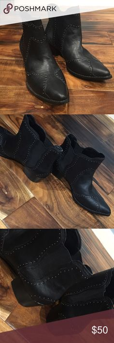 Nasty Gal Booties Black booties with tiny studs from Shoe Cult. Great for fall!! They are a size 7 but run big. They fit like a 7 1/2 or 8. In great condition. Heel is a little under 2 inches. Comes with dust bag! Nasty Gal Shoes Ankle Boots & Booties