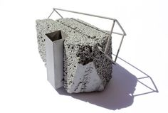 Drew Markou  Brooch: Untitled 2012  Concrete, Stainless Steel