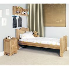 Amelie Oak Childrens Standard Sized 3' Single Bed