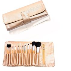 FASH Professional makeup Brush Set,12 pc, For Eye Shadow, Blush, Eyeliner,eyebrow.... by FASH Limited. $15.49. 12 piece brush set comes with a beautiful shiny roll-up storage pouch with magnetic clasps.. A complete collections - contains all  necessary brushes consisting of face brushes, angled, contour, lip, brow and eye line detailers.. Professional grade quality.. A perfect kit for your makeup kit.. Eco-Friendly, high quality makeup brushes designed for profess...