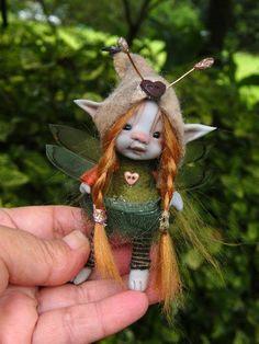 Tiny fairy fairie posable ooak... © Kerrie Sawyer