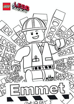 The LEGO Movie Coloring Pages - Emmet by tormentalous, via Flickr
