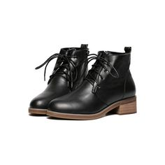 Black Chunky Heel PU Boots ($38) ❤ liked on Polyvore featuring shoes, boots, polyurethane shoes, black boots, kohl boots, kohl shoes and thick heel shoes