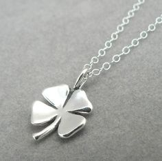 Four Leaf Clover sterling silver lucky charm by asilomarworks, $25.00