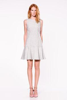 soft grey dress #fw16 #fashion