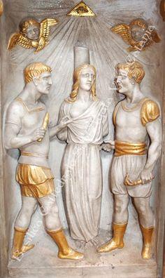 Storia del Martirio di Sant'Agata V. M. - Catania Catania, Paper Models, Santa, Princess Zelda, Statue, History, Fictional Characters, Sicilian, Sculptures