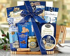 Gourmet Foods Gift Baskets, a Cut Above, a Bamboo Cutting Board Is Piled High with Wine Country Favorites. Daniele Artisan Handmade Smoked Salame, Napa Valley Mustard Company Stone Ground Mustard, Sesame Crackers, Sonoma Jacks Garlic Herb Cheese Wedges, Roasted Garlic Crackers, Chocolate... see more details at https://bestselleroutlets.com/arts-crafts-sewing/gift-wrapping-supplies/product-review-for-gourmet-foods-gift-baskets-a-cut-above-a-bamboo-cutting-board-is-piled-high-w