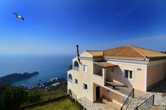 House with sunning views, in Lakones, West Corfu. Sun View, Corfu Island, Corfu Greece, Houses, Mansions, House Styles, Homes, Mansion Houses, Mansion