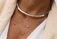 Bijoux étoile- collier fantaisie or (3)