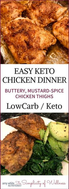 LowCarb Chicken Thighs Zero Carb Chicken Thighs for a crowd. Make up to 12 thighs with this delicious, fatty, mustard-spice sauce. Great for leftover grab-n-go low-carb food. Only 4 ingredients for the sauce. Easy and delicious keto food. Ketogenic Recipes, Low Carb Recipes, Diet Recipes, Healthy Recipes, Snacks Recipes, Recipes Dinner, Ketogenic Diet, Cookie Recipes, Keto Fat