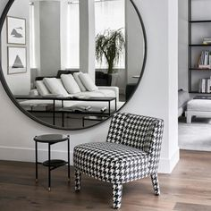 Unique and Lovely Wall Mirror Designs for Living Room Part 16 Big Round Mirror, Round Mirrors, Modern Furniture Stores, Contemporary Furniture, Living Room Mirrors, Living Room Decor, Mirror Bedroom, Wall Mirror, Bedroom Wall