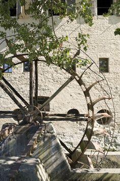 /\ /\ . Medieval mill in Treviso, Province of Treviso , Veneto