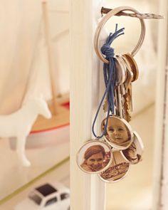 Schlüsselanhänger mit Foto selber machen als Geschenk zum Muttertag oder als Vatertagsgeschenk! Noch mehr Ideen gibt es auf www.Spaaz.de