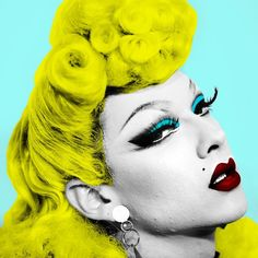 Violet Chachki, Pop Art style, RPDR7 winner.