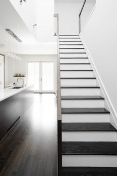 White under the stairs