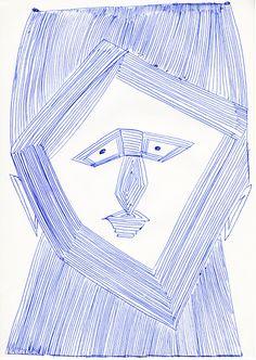 """""""Portrait aus geraden Linien"""". Der wichtige Mannheimer Aussenseiterkünstler Ernst Kolb ist heute (noch) fast unbekannt. Das dürfte sich wohl ändern.  Im Dezember 2012 hat die «Collection de l'Art Brut» in Lausanne 26 Zeichnungen erworben und in der Fachzeitschrift RAWVISION, werden seine Zeichnungen  in der nächsten Nummer (Nr.79) einem breiteren Publikum vorgestellt. Gut 100 seiner Zeichnungen können bereits jetzt auf www.artbrut.li oder www.aussenseiterkunst.ch entdeckt werden."""