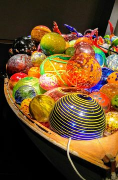I've seen this display or one quite similar, at the Chihuly Collection in St. Petersburg, Fl. Stunning! If you ever visit this corner of the world, a couple of blocks away is the Morean Art Studio and Hot Shop you can visit!