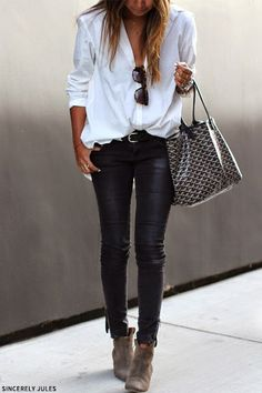 Effortlessly chic, bag just tops it off nicely...