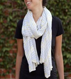 Chevron Cotton Summer Scarf by Graymarket Design on Scoutmob Shoppe $45
