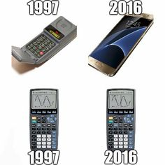 19 Years Later Mobile Phone VS. Calculator