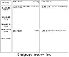 Use This Template To Make A Unit Plan Also See The Lesson Plan
