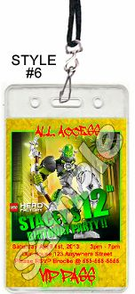 LEGO HERO FACTORY VIP PASSES WITH LANYARDS
