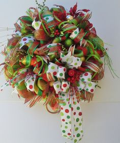Festive Holiday Wreath for Christmas features by WredWrockWreaths, $115.00