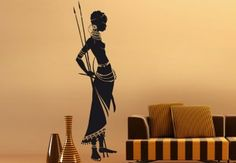 Masai Warrior Wall Decal - African tribe Vinyl Decor