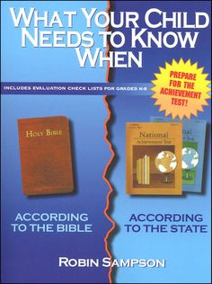 """What Your Child Needs to Know When,"" by Robin Sampson, Homeschool Helps, Learning Objectives"