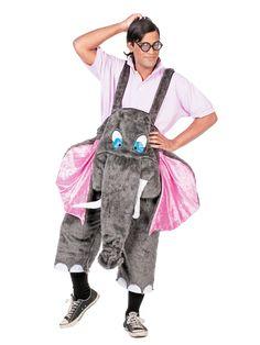 Elefant Kostüm Latzhose grau-rosa, aus der Kategorie Ausgefallene Kostüme. Diese plüschige Elefanten-Hose ist nicht nur weiß, sondern auch total bequem. Noch dazu macht sie auf wirklich jedem Event Eindruck, denn dieses süße Rüsseltier muss man einfach knuddeln!